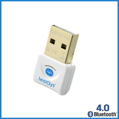 Leoxsys LB4 Bluetooth 4.0 Data Transfer USB Adapter Dongle  White