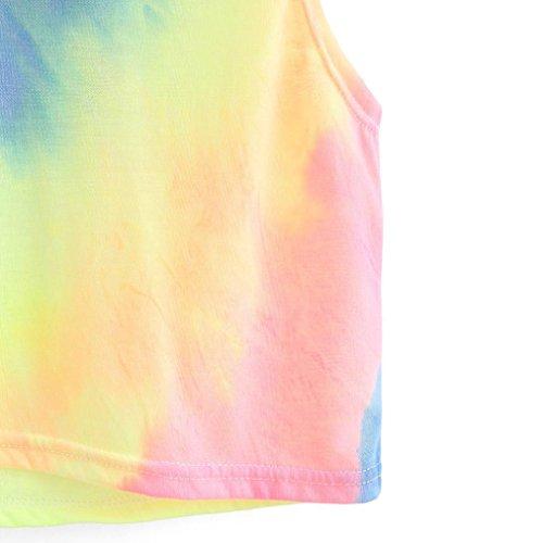 e26ca42114a Ankola Tops, Women Teen Girls Fashion Sexy Tie Dye Hooded Crop Top  Sleeveless T-Shirt
