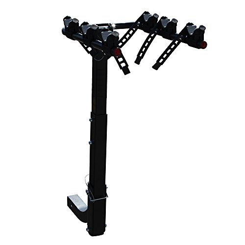 Masione 3-Bike Hitch Rack Mount Truck Bicycle Carrier Fits 2″ Hitch Receiver for most Sedans/Hatchbacks/Minivans and SUVs