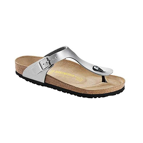 Birkenstock Gizeh Sandal (Little Kid/Big Kid),Silver,34 M EU (3-3.5 M US Big -
