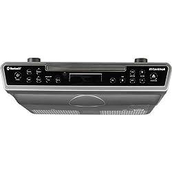 Sylvania Wireless Under the Cabinet Kitchen CD Player Radio Bluetooth Speaker System