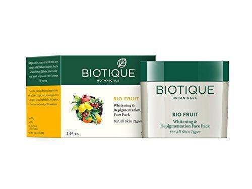 (Biotique Bio Fruit Whitening & Depigmentation Face Pack(75 G))