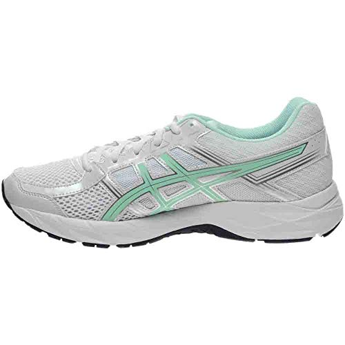 ASICS Women's Gel-Contend 4 Running Shoe, White/Bay/Silver, 5 M US by ASICS (Image #3)