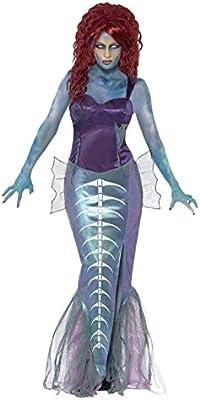SmiffyS 44359L Disfraz De Sirena Zombi Con Parte De Arriba Y ...