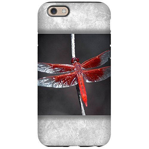 (iPhone 6 Tough Case Red Flame Dragonfly)