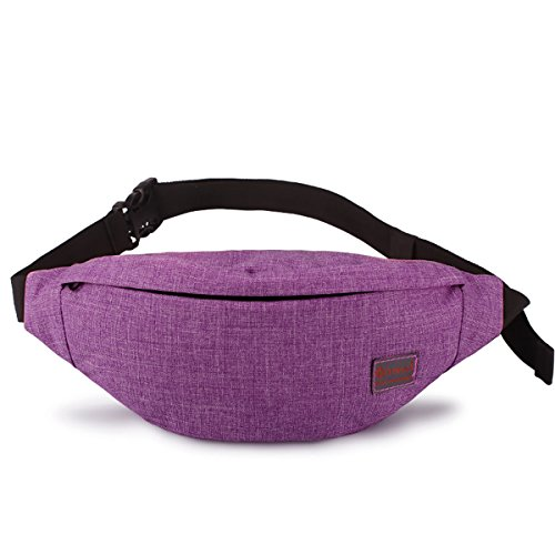 Tinyat Travel Fanny Bag Waist Pack Sling Pocket Super Lightweight For Travel Cashier's box, Tool Kit T201 (Purple)