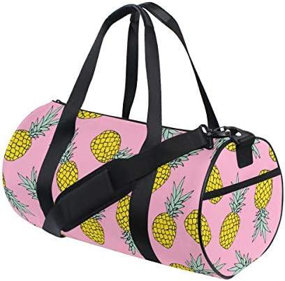ボストンバッグ パイナップル フルーツ 柄 ジムバッグ ガーメントバッグ メンズ 大容量 防水 バッグ ビジネス コンパクト スーツバッグ ダッフルバッグ 出張 旅行 キャリーオンバッグ 2WAY 男女兼用