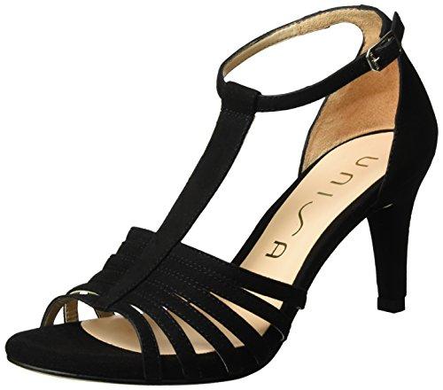 Black Black Ocelo Women's Unisa Sandals Wedge Heels ks 0qx7f4