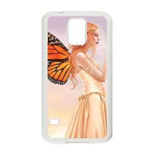 Citrine Samsung Galaxy S5 Cell Phone Case White phone component AU_486411