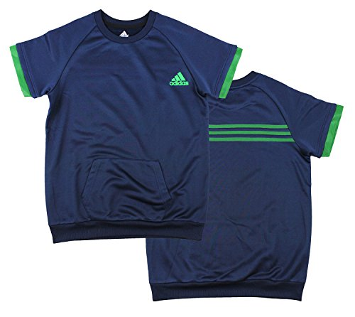 Adidas Youth Big Boys One Pocket Shirt (Medium (10/12), Navy/Green)