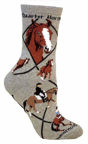 Quarter Horse Woman's Socks Size 9-11 made in New England