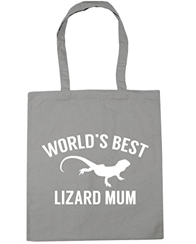 Gym mum Bag 10 best Shopping x38cm HippoWarehouse Tote litres Grey lizard 42cm World's Beach Light RxaHwqY4