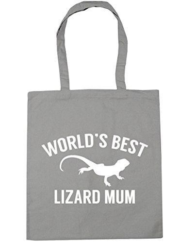 Bag 42cm x38cm Grey mum lizard Tote litres Gym World's best Shopping Beach Light 10 HippoWarehouse qp8zR1wn