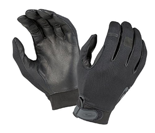 Officer Pat Down Costume (TSK323 Hatch Black Police Military Touchscreen Duty Patrol Leather Gloves)