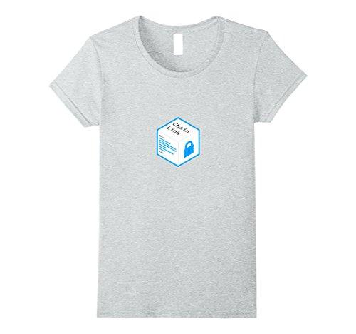 Womens ChainLink Logo T-Shirt Small Heather (Chain Link T-shirt)