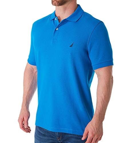 Nautica Pique Cotton Short Sleeve Deck Polo (K51701) L/Capri Blue