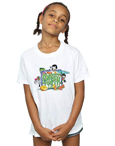 Teen Tooth Dc Blanc Titans Sweet Go Comics shirt Fille T faaSgE