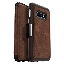 OtterBox Strada Series Leather Wallet Case for Samsung Galaxy S10e (ONLY) - Bulk Packaging - Espresso (Dark Brown/Worn Brown Leather)