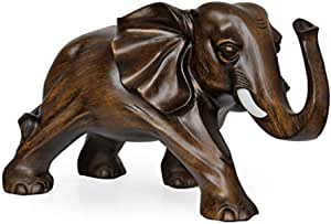 Handmade Large lucky Vintage Elephant Figurine Statue Stand Home Decorations Resin Animal Ornaments Crafts Birthday Christmas Gifts