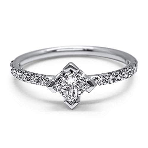 Amazon.com: Minimalist moissanite stackable ring princess