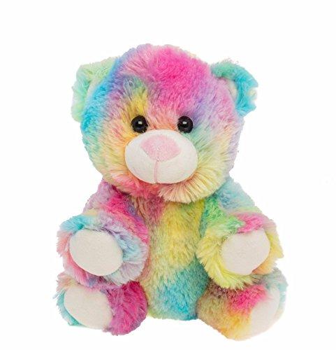 BEARegards Personal Recordable talking teddy Bear / Baby Heartbeat 8' RAINBOW TEDDY BEAR with 20 sec digital recorder
