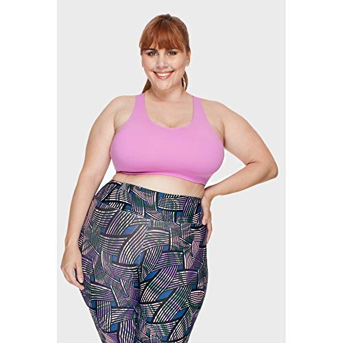 Top Plus Size Liso Fitness Rosa-50