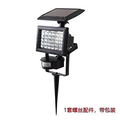 TOOGOO Solar PIR Sensor de movimiento al aire libre IP44 a prueba de agua 30 LEDs