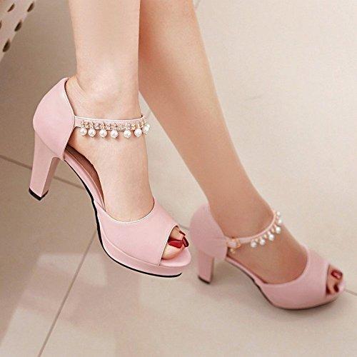 LI Sandalias Toe se Verano Bajos oras Peep heelsWomen Zapatos BAJIAN Sandalias Zapatos Alto Chanclas w6Id6q
