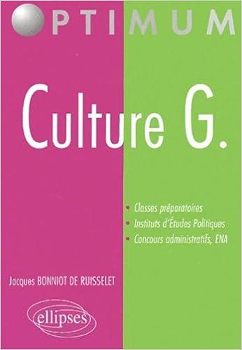 Livre gratuits Culture G. : Classes préparatoires, institut d'études politiques pdf, epub