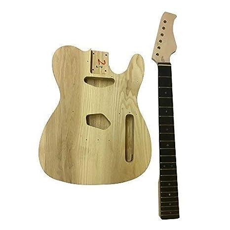 GD6603 Coban Guitars Cuerpo De Fresno Guitarra Eléctrica Kit construcción Derecho para estudiante & Luthier Proyectos