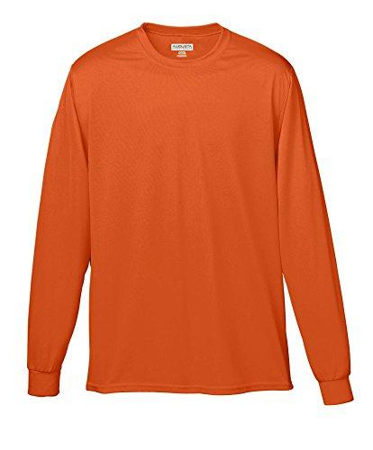 - Augusta Sportswear Wicking Long Sleeve T-Shirt, Small, Orange