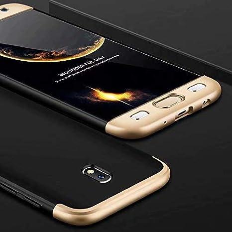 MISSDU reemplazo para Funda Samsung Galaxy J3 2017 Thin Fit 360 Carcasa Exact Slim de protección Completa y Protector de Pantalla de Vidrio Templado, ...