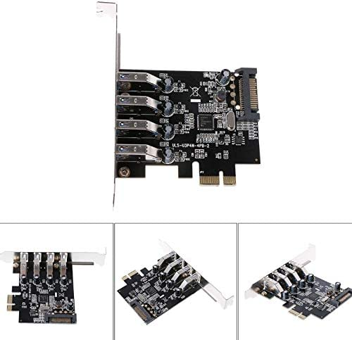 PCI-E USB 3.0 4 Ports Super Speed USB 3.0 to 15-Pin SATA Power Connector PCI Express Card Adapter