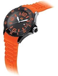 Men's 40NINE01/BLACK/TANG Extra Large 50mm Analog Display Japanese Quartz Orange Watch