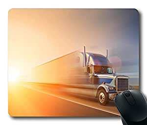 Personalized Custom Mouse Pad Oblong Shaped Truck 2