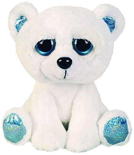 Suki Gifts Lil Peepers Fun Icicle Polar Bear Plush Toy with Blue Sparkle Accents, Small 11091