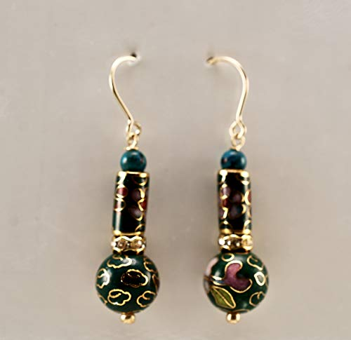 Cloisonne and Turquoise in 14Kt Gold Filled