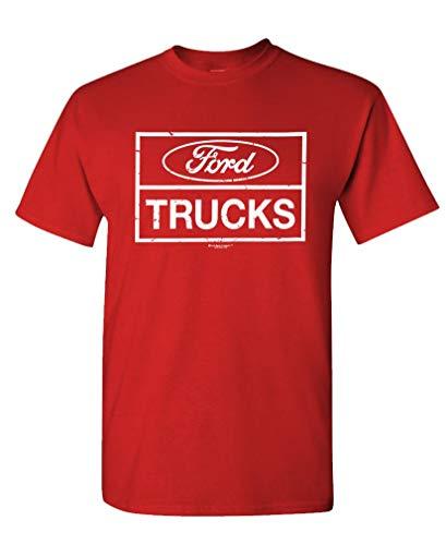 Ford Trucks F150 F250 4x4 Offroad - Unisex T-Shirt, Red, 2XL (2006 Ford F250 4x4 Front Axle Diagram)