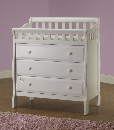 (Orbelle Trading Changing Station with 3 Drawers, White)