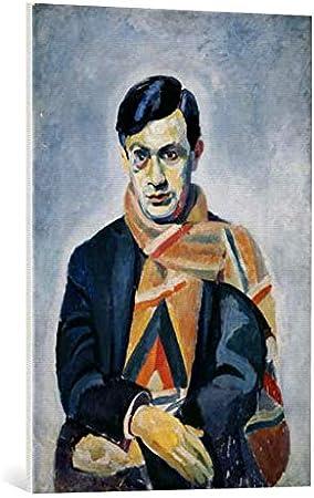 Kunst für Alle Cuadro en Lienzo: Robert Delaunay Portrait Tzara Tristan - Impresión artística, Lienzo en Bastidor, 60x85 cm