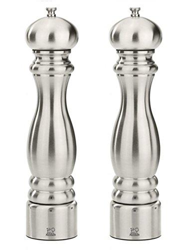 Peugeot Paris Chef u'Select Stainless Steel 12'' Pepper & Salt Mill Set by Peugeot
