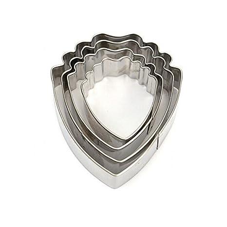 IDEA - Juego de 4 moldes para tartas, diseño de flores de peonía en 3D