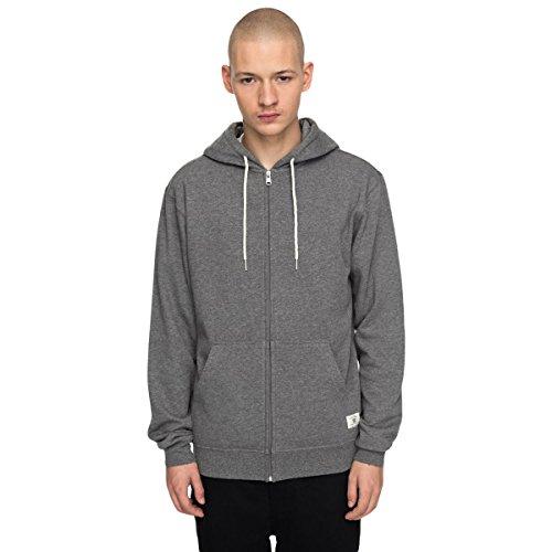 DC Men's Rebel Zip-up Hoodie Sweatshirt, Charcoal Heather, M