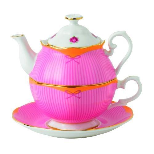 Sweet Tea Border Collection (Royal Albert Sweet Stripe Tea For One- 16.6 oz)