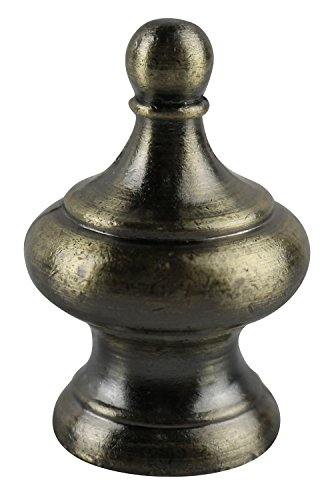 Urbanest Worsley Lamp Finial, 1 3/4-inch Tall, Antique Brass