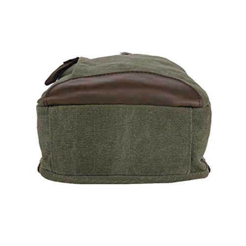 x Paquete 8 bolso 35 x Verde paquetes coreano la de L cm retro H Wewod lona pecho de de W la hombre la moda 19 a4HWw5Ix
