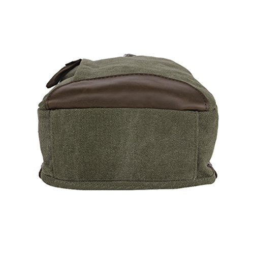 de retro de la lona la W pecho L H de bolso cm Wewod la 35 Verde moda 8 paquetes 19 hombre x Paquete coreano x 7qAx4