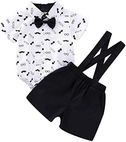 赤ちゃん ベビー ルームウェア 男の子 キッズ 正装スーツ カジュアル 蝶ネクタイ フォーマル ボーイズ 2点セット
