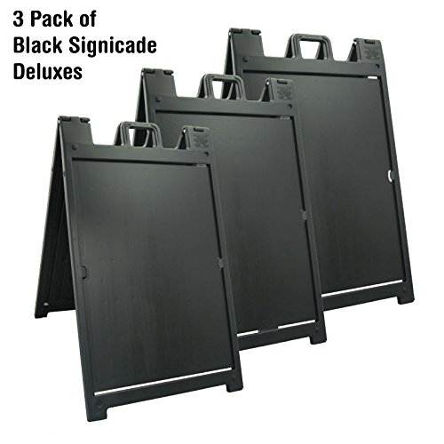 3 Pack of Black Signicade Deluxes by Plasticade