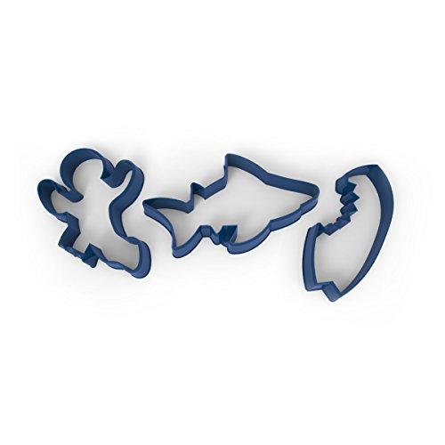 Fred SNACK ATTACK! Shark and Surfer Cookie Cutters, Set of 3
